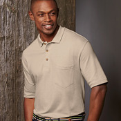 UltraClub Adult Classic Piqué Polo with Pocket