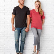 Unisex Triblend Short-Sleeve V-Neck Tee