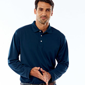 UltraClub® Adult Cool & Dry Long-Sleeve Stain-Release Performance Polo
