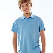 UltraClub® Youth Cool & Dry Mesh Piqué Polo