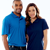 UltraClub® Ladies' Cool & Dry Jacquard Performance Polo