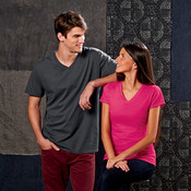Fruit of the Loom Ladies' Sofspun™ Junior Fit V-Neck T-Shirt