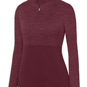 Ladies' Shadow Tonal Heather 1/4 Zip Pullover