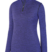 Ladies' Intensify Black Heather Quarter-Zip Pullover