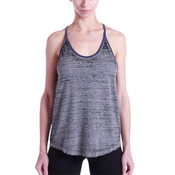 Ladies' Burnout Y-Back Ringer Tank