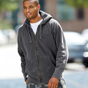 Comfort Colors Adult Garment-Dyed Heavyweight Frayed Full-Zip Hooded Sweatshirt