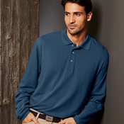 UltraClub Adult Long-Sleeve Classic Piqué Polo