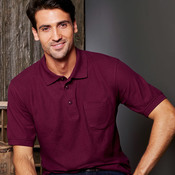 UltraClub Adult Whisper Piqué Polo with Pocket