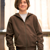LA T Youth Fleece Hooded Zip-Front Sweatshirt with Pockets