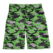"Adult Sublimated Camo 10"" Side Pocket Performance Short"