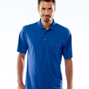 UltraClub® Adult Cool & Dry Mesh Piqué Polo with Pocket