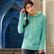 J.America Ladies' Cosmic Contrast Hooded Fleece