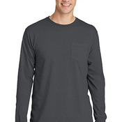 Beach Wash ™ Garment Dyed Long Sleeve Pocket Tee