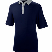 Men's Short-Sleeve 2-Tone Polo