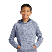 Youth PosiCharge ® Electric Heather Fleece Hooded Pullover