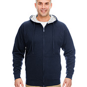 Adult Rugged Wear Thermal-Lined Full-Zip Hooded Fleece