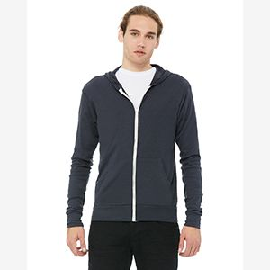 Unisex Triblend Full-Zip Lightweight Hoodie Thumbnail