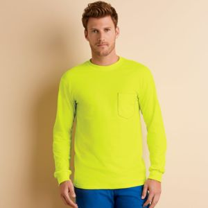 ® Ultra Cotton® Adult Long-Sleeve T-Shirt with Pocket Thumbnail