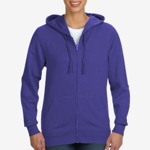 LA T Ladies Lightweight French Terry Zip Front Hoodie Thumbnail