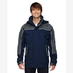 Adult 3-in-1 Seam-Sealed Mid-Length Jacket with Piping Thumbnail