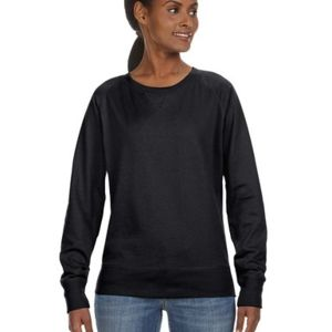 LA T Ladies Lightweight French Terry Slouchy Pullover Thumbnail
