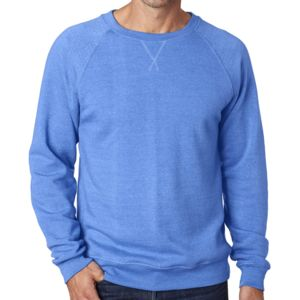 J.America Adult Tri-Blend Fleece Crew Thumbnail