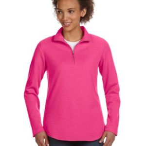 LA T Ladies Lightweight French Terry ¼ Zip Pullover Thumbnail