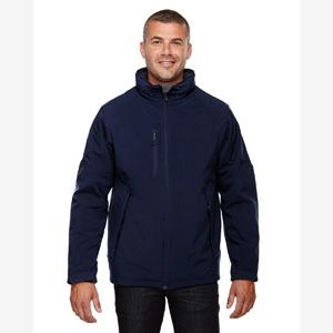 Men's Glacier Insulated Three-Layer Fleece Bonded Soft Shell Jacket with Detachable Hood Thumbnail