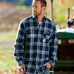 Men's Yarn-Dyed Flannel Shirt Thumbnail