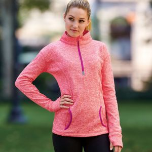 J.America Ladies' Cosmic 1/4-Zip Fleece Thumbnail