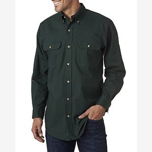Men's Solid Flannel Shirt Thumbnail