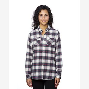 Ladies' Plaid Boyfriend Flannel Shirt Thumbnail