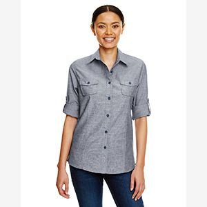Ladies Chambray Woven Shirt Thumbnail