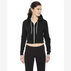 Ladies' Cropped Flex Fleece Zip Hoodie Thumbnail