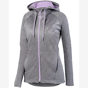 Ladies' Zoe Tonal Heather Full Zip Hoodie Thumbnail