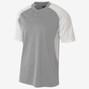 Adult Performance Contrast 2 Button Baseball Henley T-Shirt Thumbnail