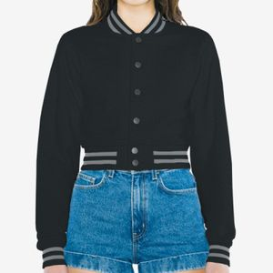 Ladies' Heavy Terry Cropped Club Jacket Thumbnail