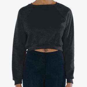 Ladies' Flex Fleece Raglan Cropped Sweatshirt Thumbnail