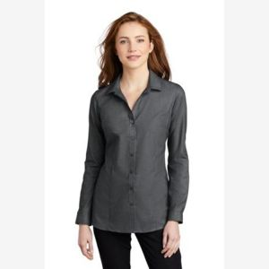 ® Ladies Pincheck Easy Care Shirt Thumbnail