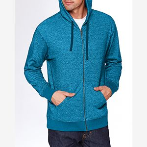 Adult Denim Fleece Full-Zip Hoody Thumbnail