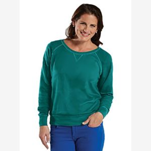 Ladies' French Terry Slouchy Pullover Thumbnail