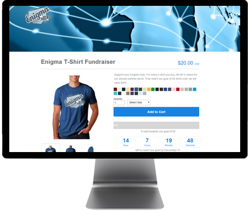 Promote Web Page for Selling Wholesale T-shirt Campaigns