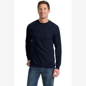 Long Sleeve Essential T Shirt with Pocket Thumbnail