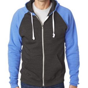 CONTRACT Adult Color Block Full Zip Hoodie - you supply  Thumbnail