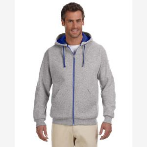 CONTRACT 8 oz., 50/50 NuBlend® Contrast Full-Zip Hood Thumbnail