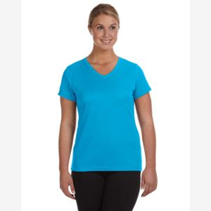 CONTRACT  Ladies' Moisture-Wicking V-Neck T-Shirt Thumbnail