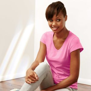® Softstyle® Ladies' V-Neck T-Shirt Thumbnail